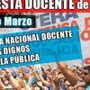 CTERA convoca a un Paro Nacional y Jornada de Protesta Docente de 48 hs